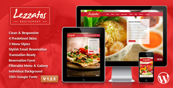 Lezzatos - Restaurant Responsive WordPress Theme
