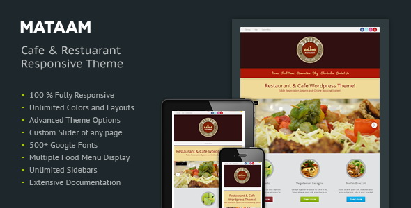 Mataam - Restaurant Responsive WordPress Theme
