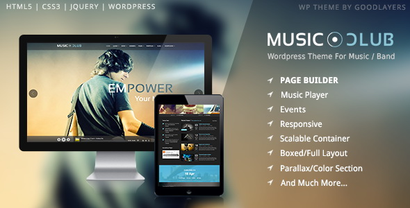 Music Club - Music/Band/Club/Party WordPress Theme