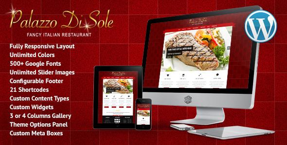 Palazzo Di Sole - Responsive Restaurant Theme