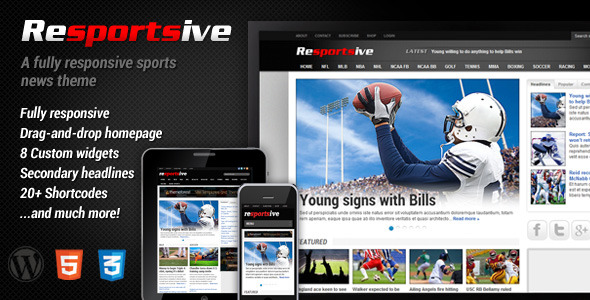 Resportsive - Sports News WordPress Theme