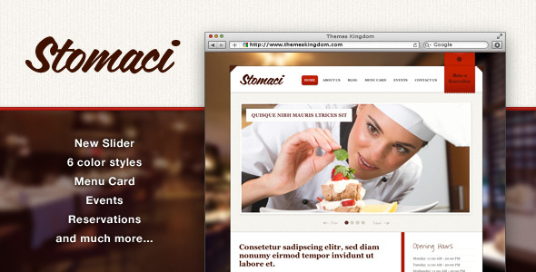 Stomaci - Restaurant & Cafe WordPress Theme