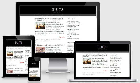 Suits Blogger Template