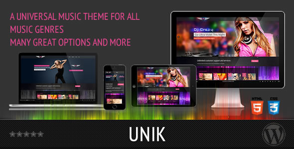 UNIK - Universal Music Responsive WordPress Theme