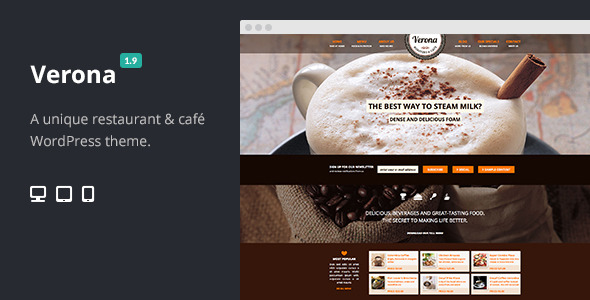 Verona - Restaurant Cafe Responsive WordPress Theme