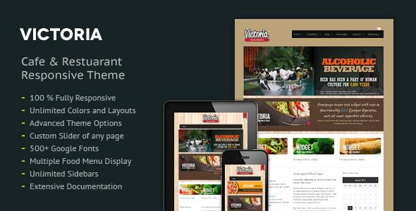 Victoria Premium Restaurant WordPress Theme