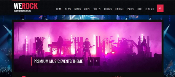 WeRock Multipurpose Music & Event WordPress ThemeE