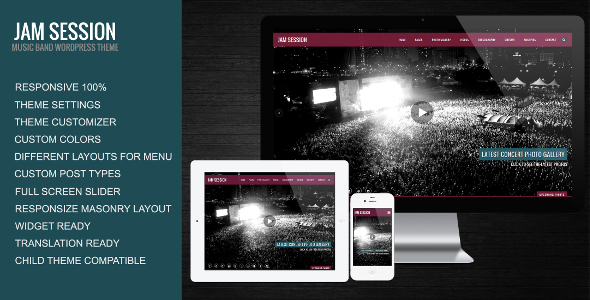JamSession - Music & Music Band WordPress Theme