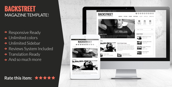 Backstreet - Blog & Magazine WordPress Theme
