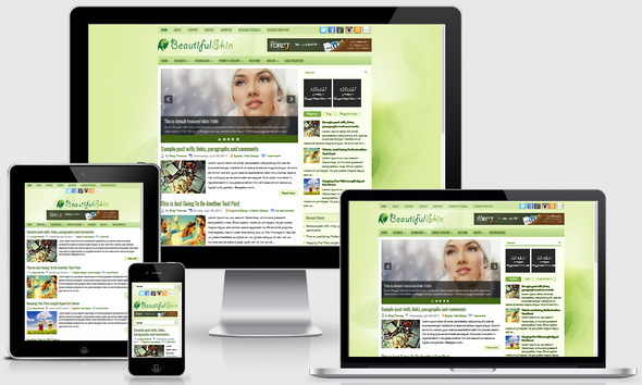 BeautifulSkin Blogger Template