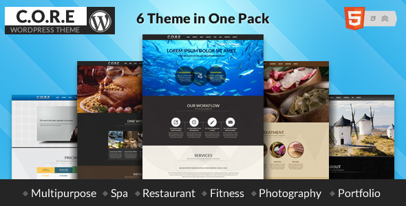 Core - Multipurpose One Page Theme