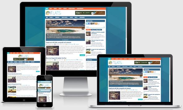 Flats Blogger Template