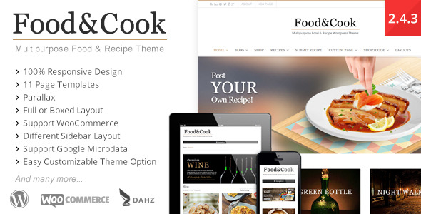 Food & Cook - Multipurpose Food Recipe WordPress Theme