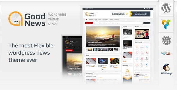 Goodnews – Responsive WordPress News/Magazine Theme