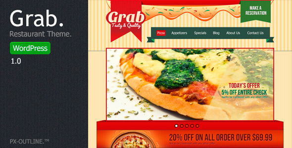 Grab - Restaurant WordPress Theme