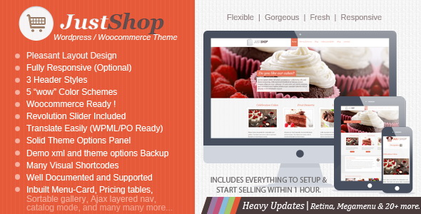 Justshop Cake - Bakery WordPress Theme