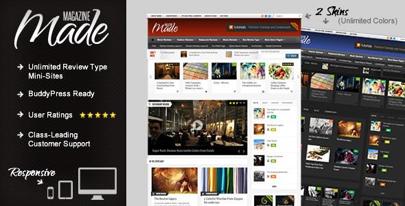 Made - Responsive Review/Magazine WordPress Theme