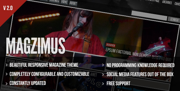 Magzimus - Blog & Magazine theme