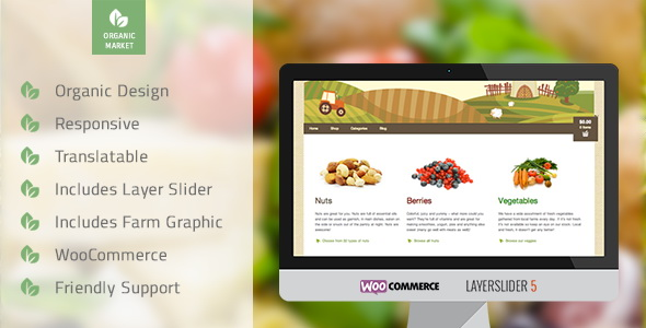 Organic Market - Friendly Ecommerce Theme