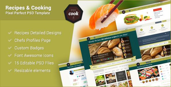 PSDCook - Recipes & Cooking PSD Design