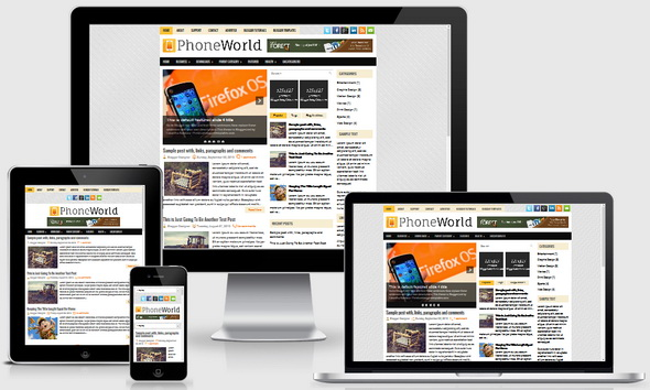 PhoneWorld Blogger Template
