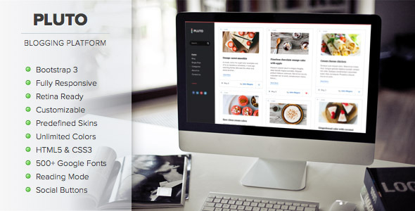 Pluto -Personal WordPress Masonry Blog Theme