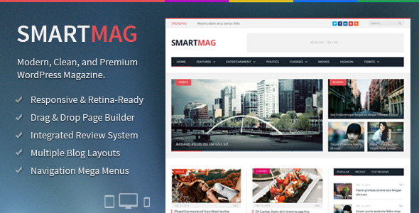 SmartMag - Responsive & Retina WordPress Magazine Theme