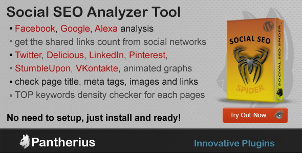 Social SEO Spider - WordPress Social SEO Analytics