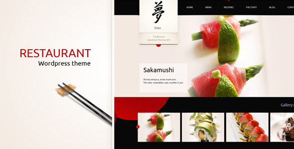 Taste of Japan - Restaurant, Food WordPress Theme