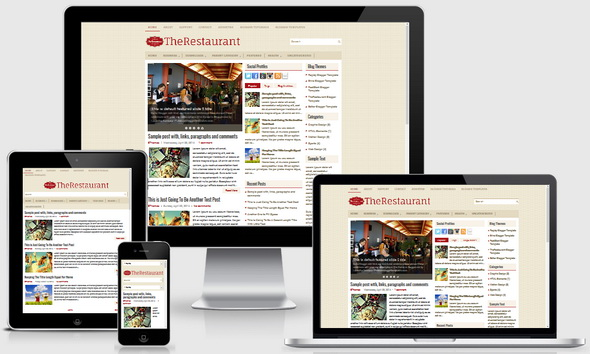 TheRestaurant Blogger Template