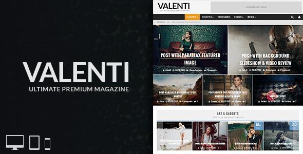 Valenti - WordPress HD Review Magazine News Theme