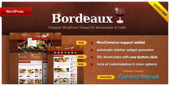 Bordeaux - Premium Restaurant Theme