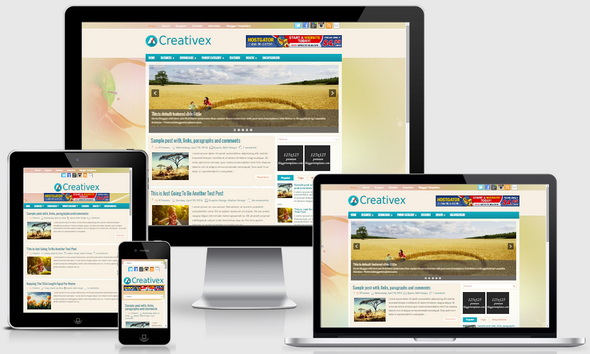 Creativex Blogger Template