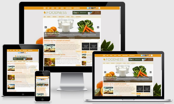 Foodness Blogger Template