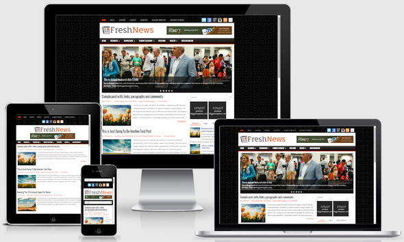 FreshNews Blogger Template