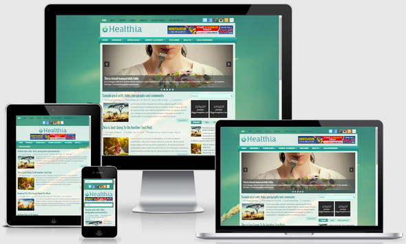 Healthia Blogger Template