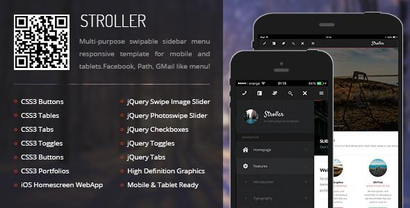 Stroller - Mobile & Tablet Responsive Template