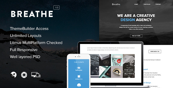 Breathe - Responsive Email Template