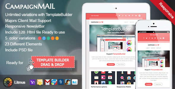 24 best responsive email templates blogger tips and tricks for Cool mailchimp templates