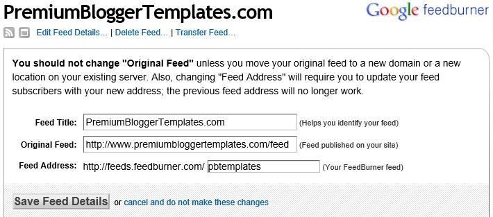 Feedburner URL