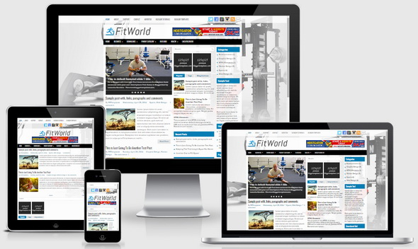 FitWorld Blogger Template