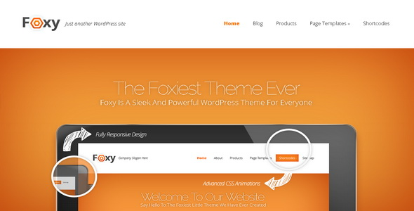 Foxy - WordPress Theme