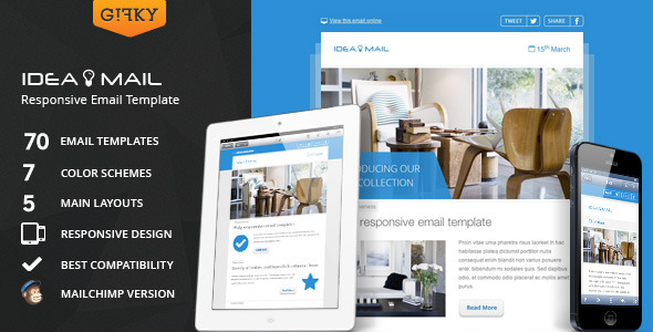 Idea Mail - Minimal & Responsive Email Template
