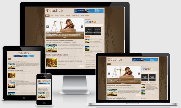 Justice Blogger Template
