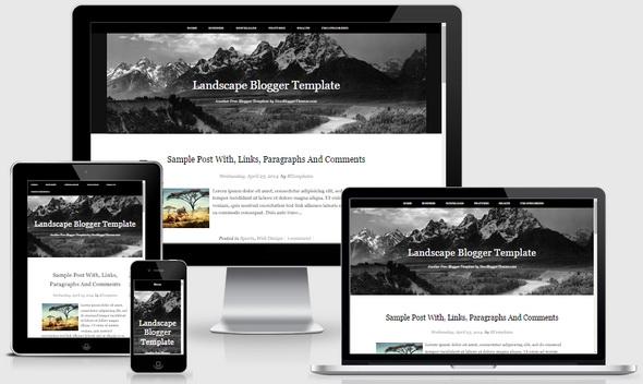 Landscape Blogger Template