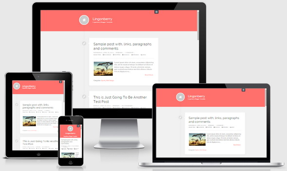 Lingonberry Blogger Template