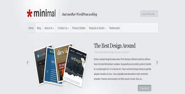 Minimal - WordPress Theme