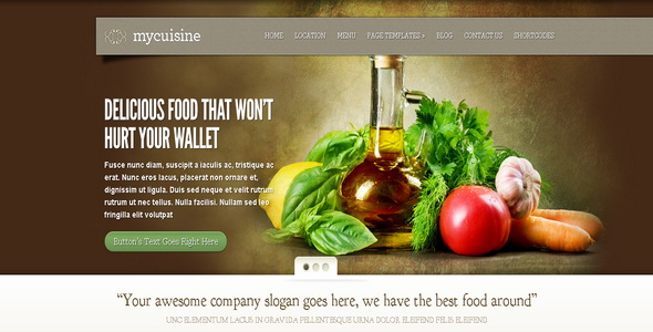 MyCuisine - WordPress Theme