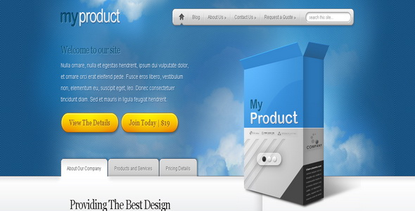 MyProduct - WordPress Theme