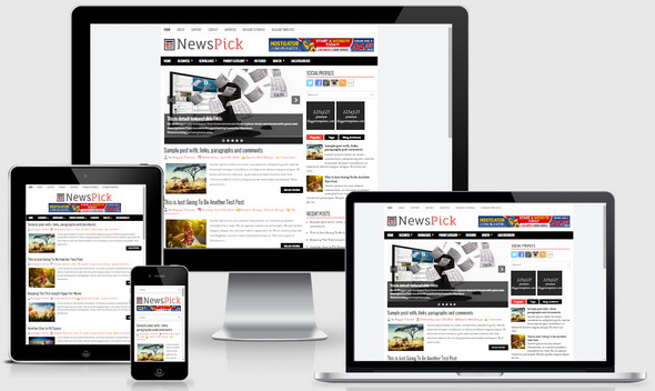 NewsPick Blogger Template